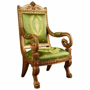 Napoleon Swans Chair IN Empire Style Beech Carved