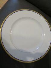 plat plat rond en porcelaine de limoges Haviland liseré or et bleu (3)