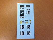 DECAL DECALCOMANIE 1/32 FERRARI LE MANS #18 #20 VIRAGES PROTO SLOT KIT