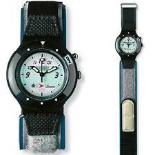 Sportliche runde Swatch Armbanduhren aus Textilgewebe