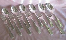 Couverts 6 cuillères 6 fourchettes métal argenté Ravinet d'Enfert modèle Corse