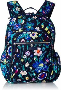 Vera Bradley Womens Campus Tech Backpack Gray One Size