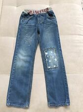 Girl MPS Jeans 120 Size 5-6 Pull Up With Star Patch Straight