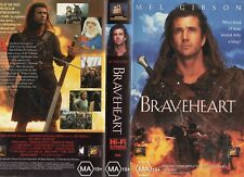 BRAVEHEART - Mel Gibson - VHS - PAL - NEW - Never played! - Original Oz release