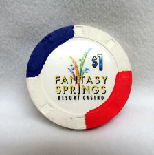 FANTASY SPRINGS Casino Indio / Palm Springs, California ~ $1 Dollar Poker Chip