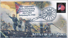 2014 Battle of Gettysburg , Civil War, Pictorial Postmark, Item 14-112