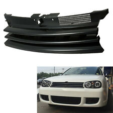 Black Front Hood Grill ABS Plastic Grille for VW Golf MK4 GTI R32 1999-2006