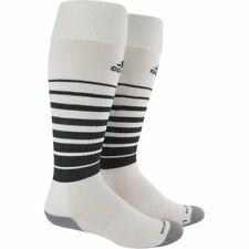 Adidas Team Speed Soccer Socks, Men's Shoe Size 9-13, White, Black