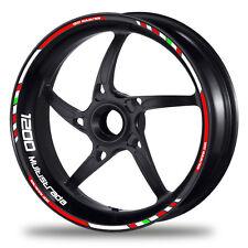FELGENRANDAUFKLEBER passend für Ducati 1200 Multistrada - GP rot-weiß