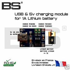 Module recharge batterie lithium ion 1A 5V lithium ion charging module