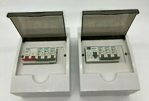 3 Way Garage Shed Consumer Unit Fuse Box Isolation Switch & 3 MCB's Or RCD ABS