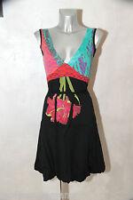 bonito vestido bola algodón multicolor DESIGUAL talla S excelente estado
