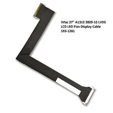 "Apple iMac 27"" A1312 2009 2010 LCD LVDS Screen Display Cable 593-1281 A 593-1028"