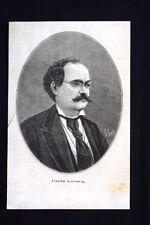 Il compositore francese Charles Lecocq Incisione del 1876