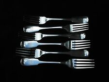 1812 set of 6 Quality IRISH Georgian table forks nice crest 405g