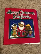 Merry Christmas Songbook Vintage Cranston Vip Fabric Panel Book