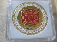 The City of Dover Fire Department Challenge Coin White Ring