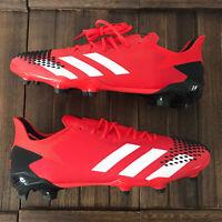 New Adidas Predator 20.2 FG Football Boots Mens Red/Black Size UK 7.5 EUR 40.5