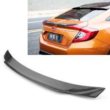 1px ABS Rear Trunk Spoiler Wing For Honda Civic 4DR Sedan 2016 2017 2018