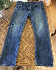 Levi's Men's 501 Original Fit Straight Leg Button Fly Jeans Distressed 34x32