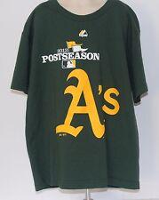 Oakland Athletics Majestic 2013 Post Season Kids Large T Shirt-Oakland A's