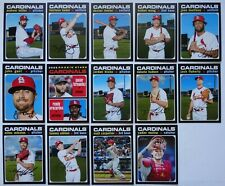 2020 Topps Heritage St. Louis Cardinals Base Team Set 14 Baseball Cards
