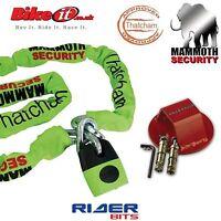 ATOM ANCHOR FREE DLR MOTORBIKE RS BLOCK LOCK DISC LOCK /& 1.2M STEEL CHAIN LOCK