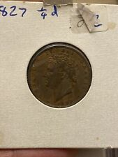 More details for great britain, george iv, 1827 farthing, higher grade (ref. c8125)