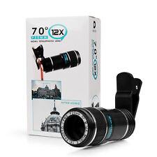 HD 12x Zoom Teleskop Kamera Objektiv Linse Weitwinkel für Handy Smart Cell Phone