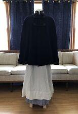 VTG Nurses Uniform Wool Cape Blouse Skirt Apron Bonnet Stockings 40's 50's XS