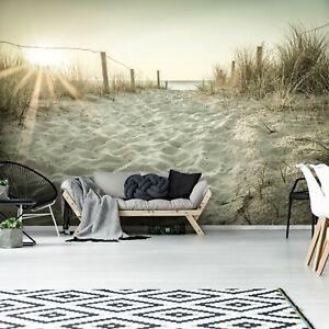 Vlies Fototapete Strand Dünen Meer Nordsee Wohnzimmer Sand Sonne Landschaft Gras