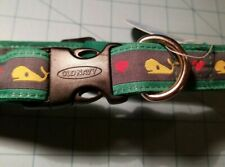 Old Navy Dog Supply Co. - Adjustable Medium Dog Collar With Whales & Hearts, NEW