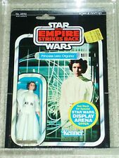 Vintage Star Wars KENNER 1981 AFA 80/85/80 PRINCESS LEIA ORGANA ESB 45 BACK MOC!