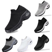 Womens Mesh Breathable Trainers Sneaker Sports Fitness Walking Shoes Size @@