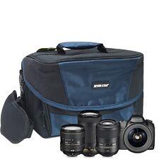 Seven Star DSLR Camera Bag Shoulder Protective Case Canon Nikon Sony Lens Blue