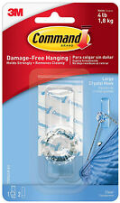 3M Command Large Crystal Hook Damage Free Hanging Holds 4lbs 1.8kg
