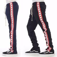 EPTM Epitome Men's Contemporary Techno Side Zipper Long Drawstring Track Pants