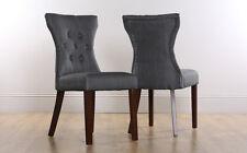 2 4 6 8 Bewley Slate Fabric Dining Room Chairs Wenge Leg