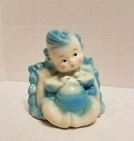 Vintage Hull Pottery - Blue Baby Boy - Planter # 92 USA - Nursery shower decor