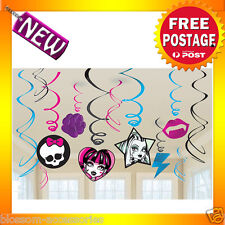 PD33 Monster High Hanging Foil Swirls Party Kid Birthday Decorations Supplies