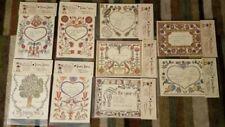 "9 Tender Tribute Birth/Wedding/Family certificates 6.5""x8.25"""