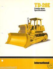 Equipment Brochure - International - Ih - Td-20E - Crawler Dozer - c1980 (E1867)