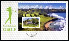 2018 Norfolk Island Golf (Mini Sheet) FDC - Postmarked Norfolk Island