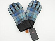 UGG MEN'S WOOL & LEATHER SMART GLOVE BX SURF PLAID SIZE S/M 1093449 NWT