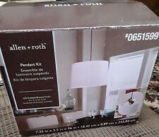 Allen + Roth Pendant Kit #0651599 Oil Rubbed Bronze Metal Light Kit w/ Cord