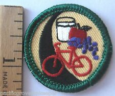 Retired Girl Scout Junior HIGHWAY TO HEALTH BADGE Nutrition Exercise Bike Patch