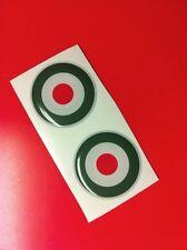 2 Adesivi Resinati Sticker 3D ITALIA target 30 mm verde