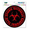 Zombie Outbreak Response Team Red - Circle - MAG-NEATO'S™ Car Vinyl Magnet