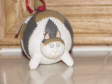 Seasons of Cannon Falls Resin Cat Ornament - NWT