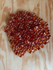Orange Glass Pebbles, Gems, Nuggets, Vase Filler 2lb bag NEW